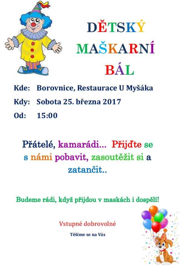Maškarní karnevaly pro děti a dospělé v Borovnici 1