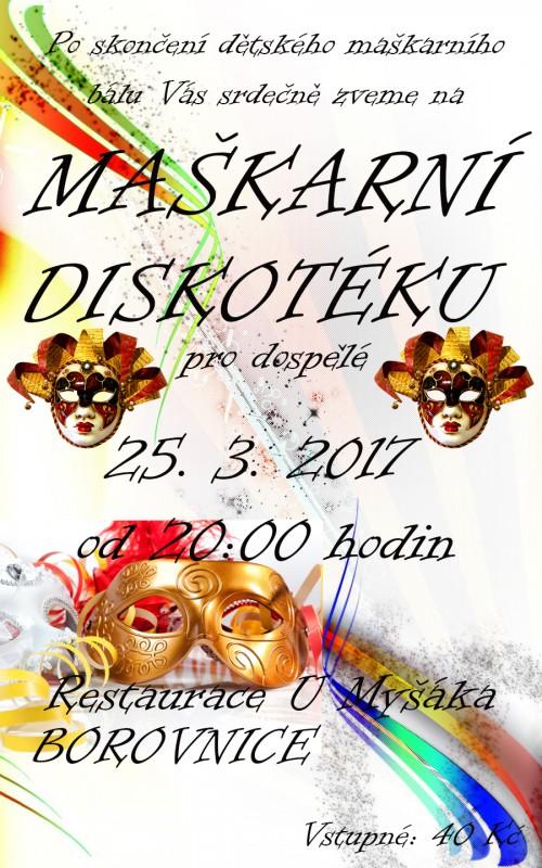 Maškarní karnevaly pro děti a dospělé v Borovnici 2