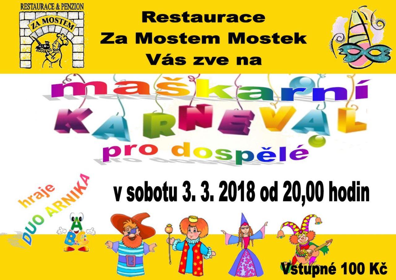 Maškarní karneval pro dospělé Za Mostem 1