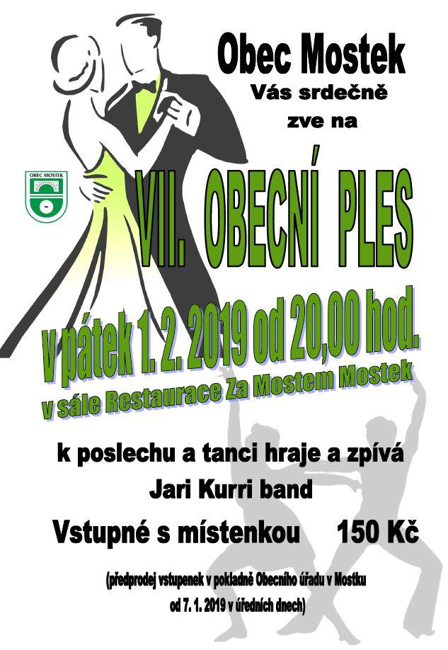 IIV. obecní ples Mostek 1