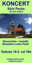 Koncert sboru Pecka v Borovničce 1
